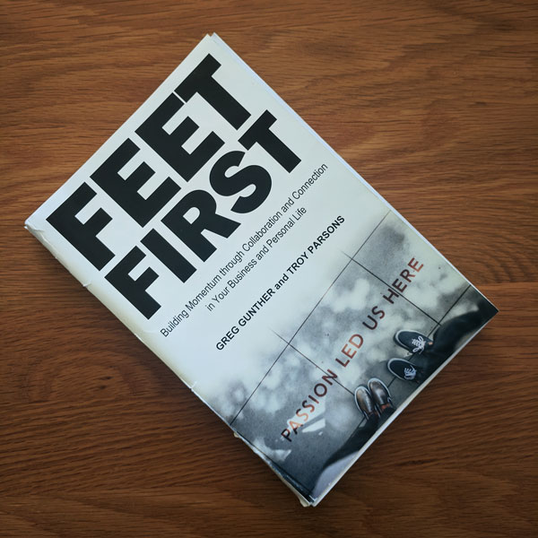 Feet First Book over a table